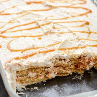 Pumpkin Caramel Ice Box Cake