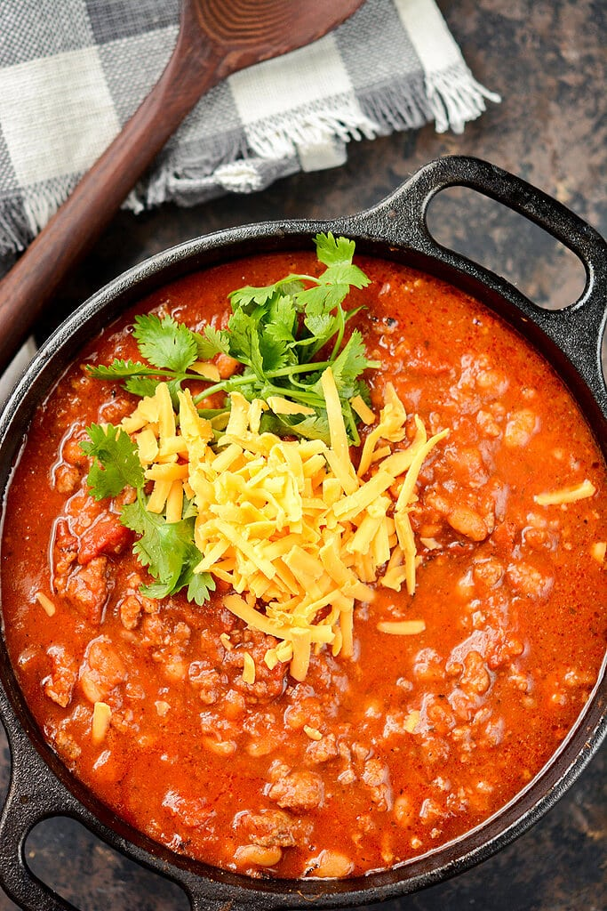 Slow Cooker Pumpkin Beer Chili