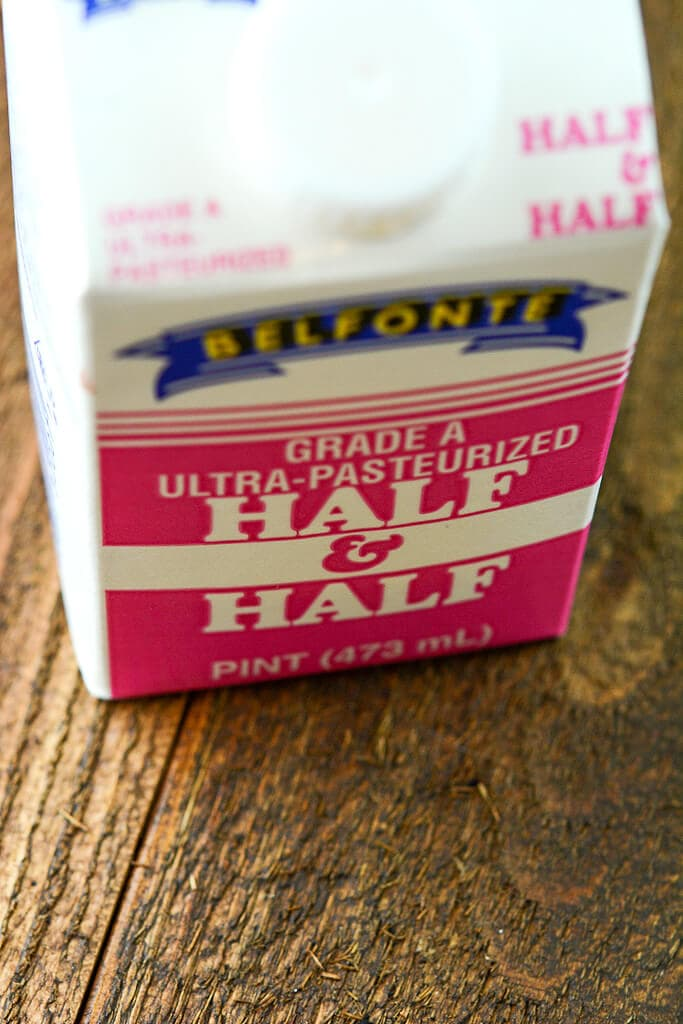Container of half and half