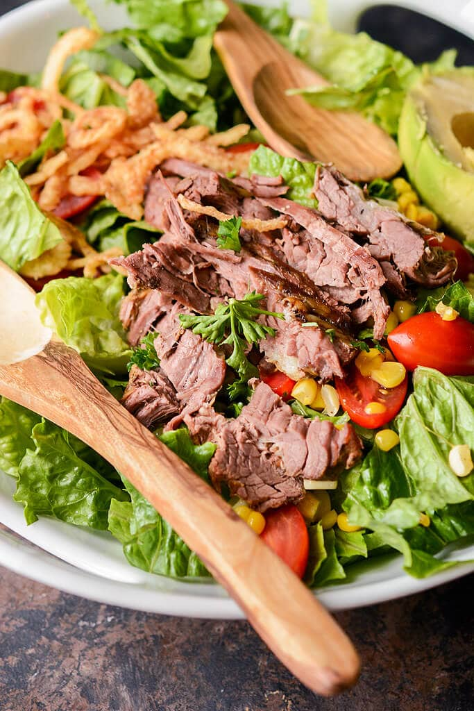 Slow Cooker Steak Salad