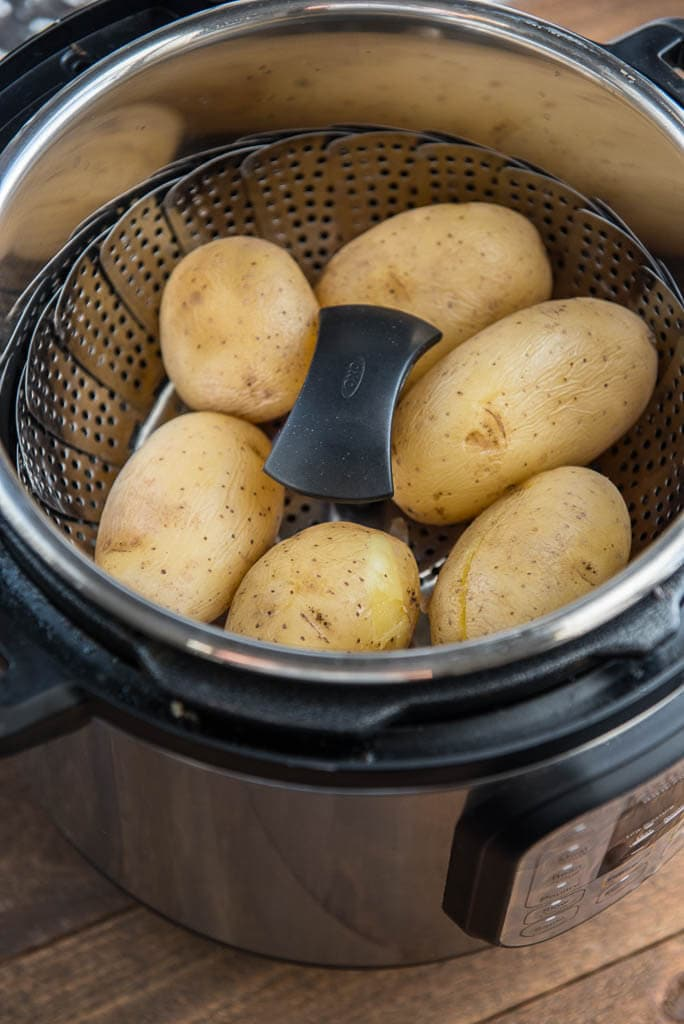 Easy Weekday Breakfast potatoes will be made from whole potatoes being steamed in Instant Pot