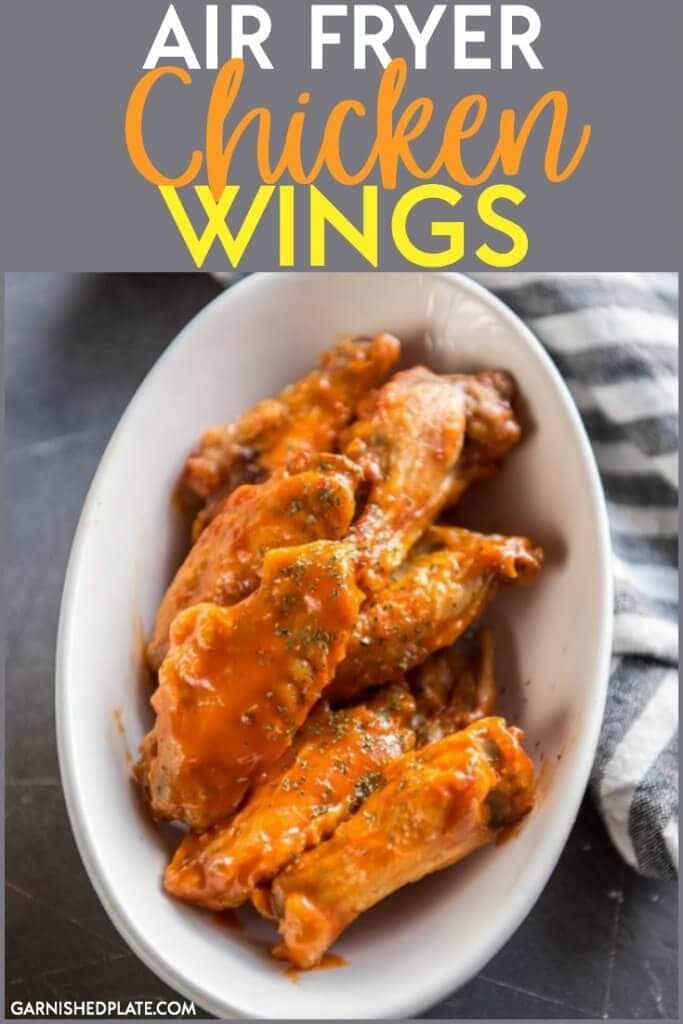 No oil and no deep fryer needed! Easy Air fryer chicken wings are a healthier version of your favorite bar and grill treat. These chicken wings are so easy to make at home!