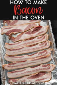 If you've ever wondered what the perfect strip of bacon tastes like, then you need to learn how to make bacon in the oven! It turns out perfect crispy and tasty every time and is so easy to do! #bacon #breakfast