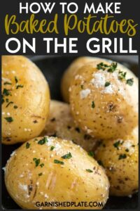 If you've ever wondered how to make a baked potato on the grill, I'm going to show you how simple and time-saving it can be! #grill #grillrecipe #potato #potatorecipe #bakedpotato #sidedish
