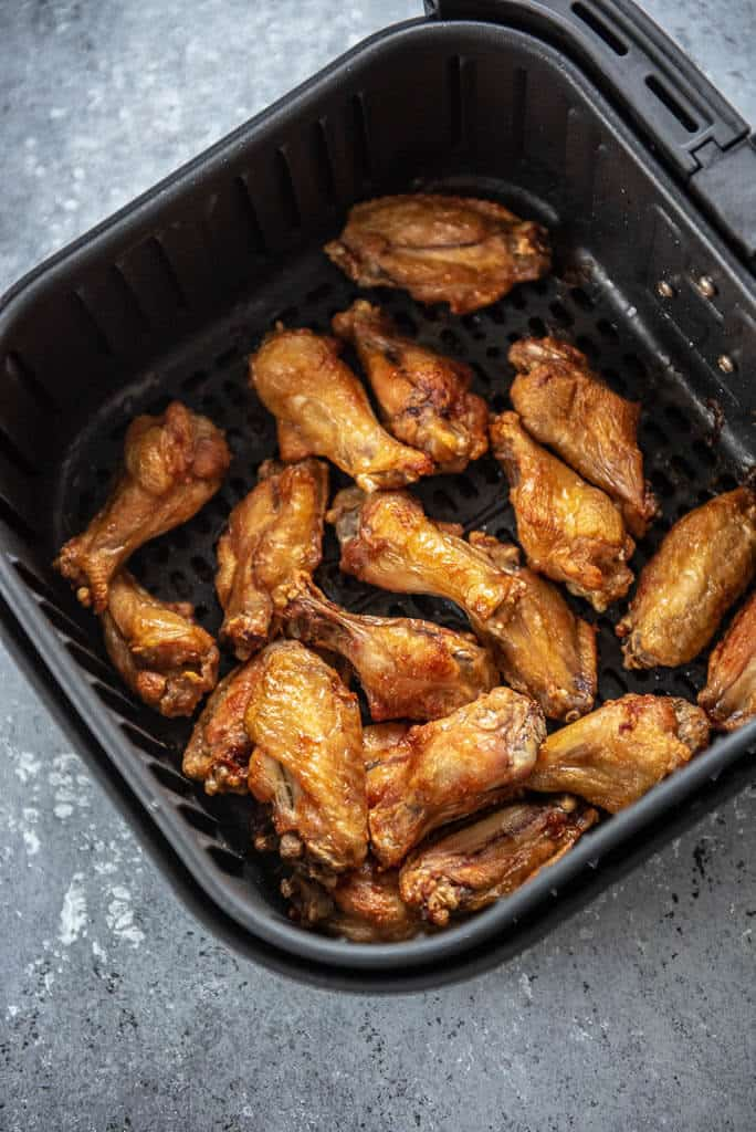 chicken wings in air fryer basket