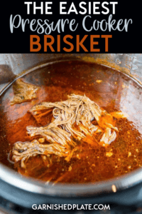 It's time to rethink the meaning of quick dinners! With this Pressure Cooker Brisket you can have amazing shredded beef perfect for sandwiches, tacos and more in just about an hour! #instantpot #brisket #pressurecooker
