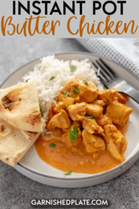 This recipe is a favorite of my family and it could be for your's too! Instant Pot Butter Chicken is quick and easy to make and a cure for those boring chicken dinners. #instantpot #butterchicken #chickenrecipe