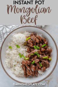 Want your kids to gobble down dinner instead of turning up their noses? This Instant Pot Mongolian Beef is a snap to make and is melt-in-your-mouth tender with a delicious sweet and spicy sauce. #instantpot #mongolianbeef #instantpotbeef