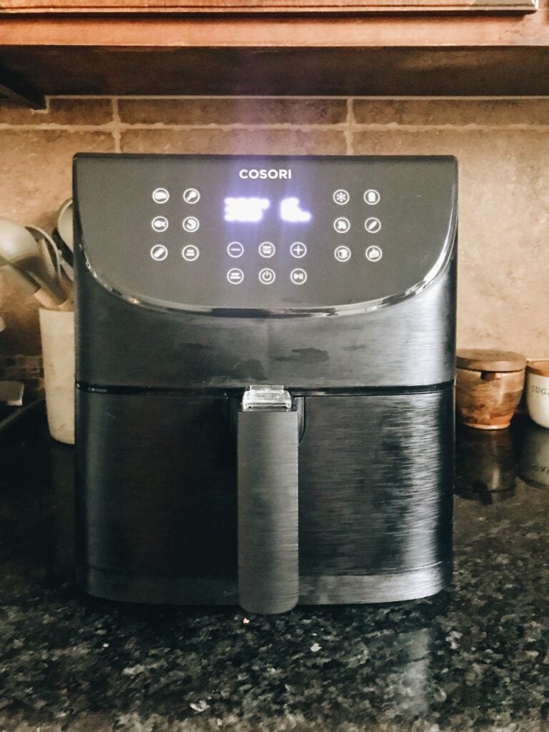 cosori air fryer on counter
