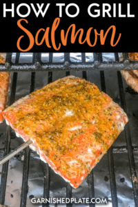 There are so many delicious grilled salmon recipe out there, but have you ever wondered about the basics of how to make salmon on the grill?  This simple tutorial will teach you how to grill salmon so that you can get a healthy simple meal on the table with little effort! #salmon #grilledsalmon #salmonrecipe