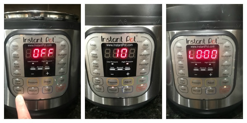 ollage of Instant Pot settings