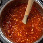 instant pot full of chili