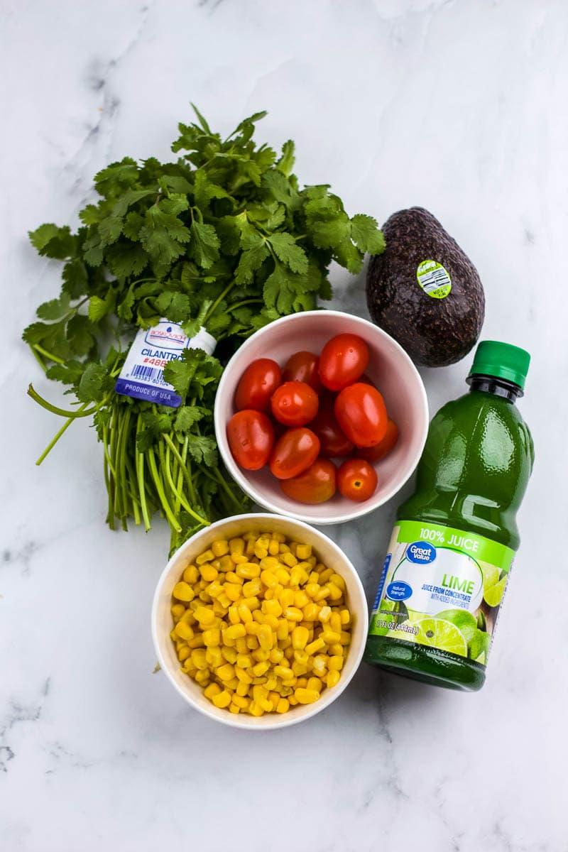 ingredients for corn salsa