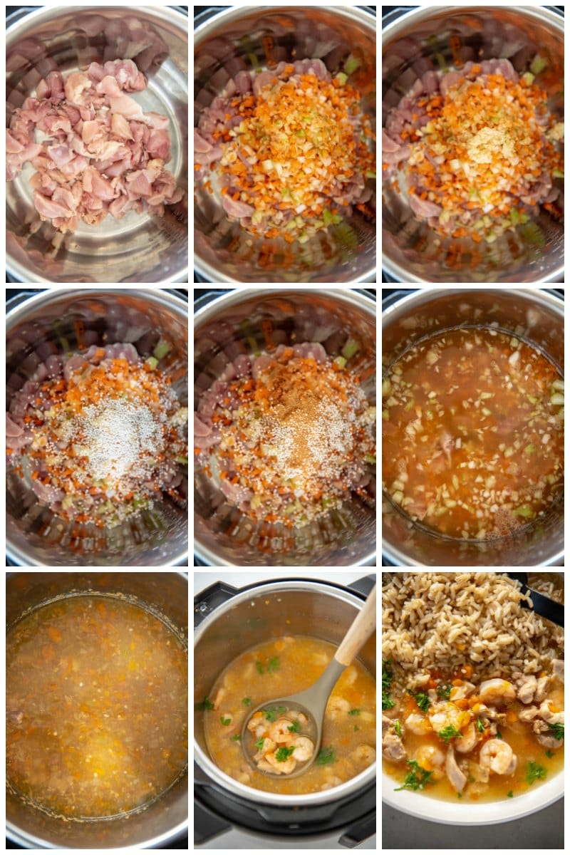 step by step making gumbo in the instant pot