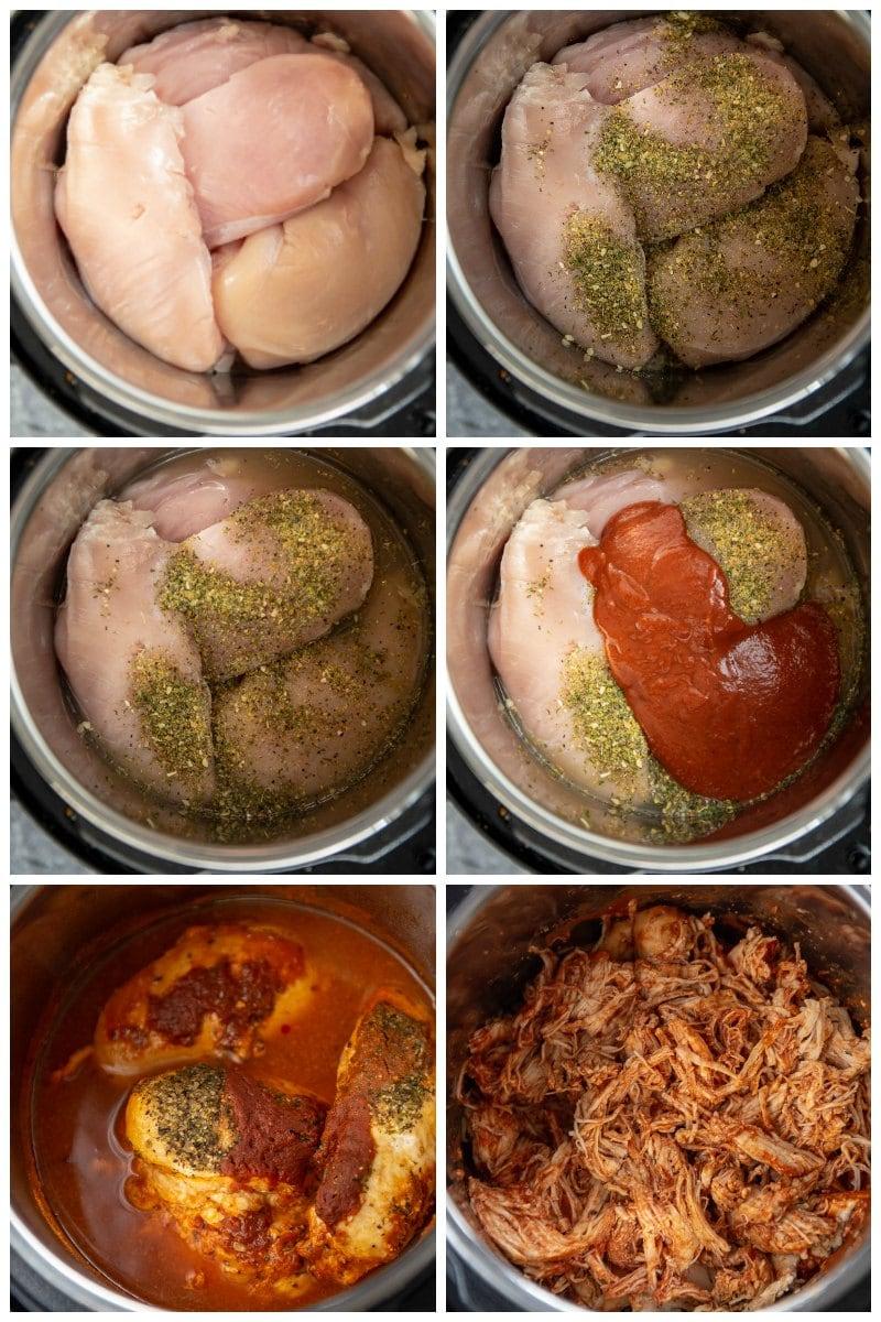 preparation pictures of bbq chicken