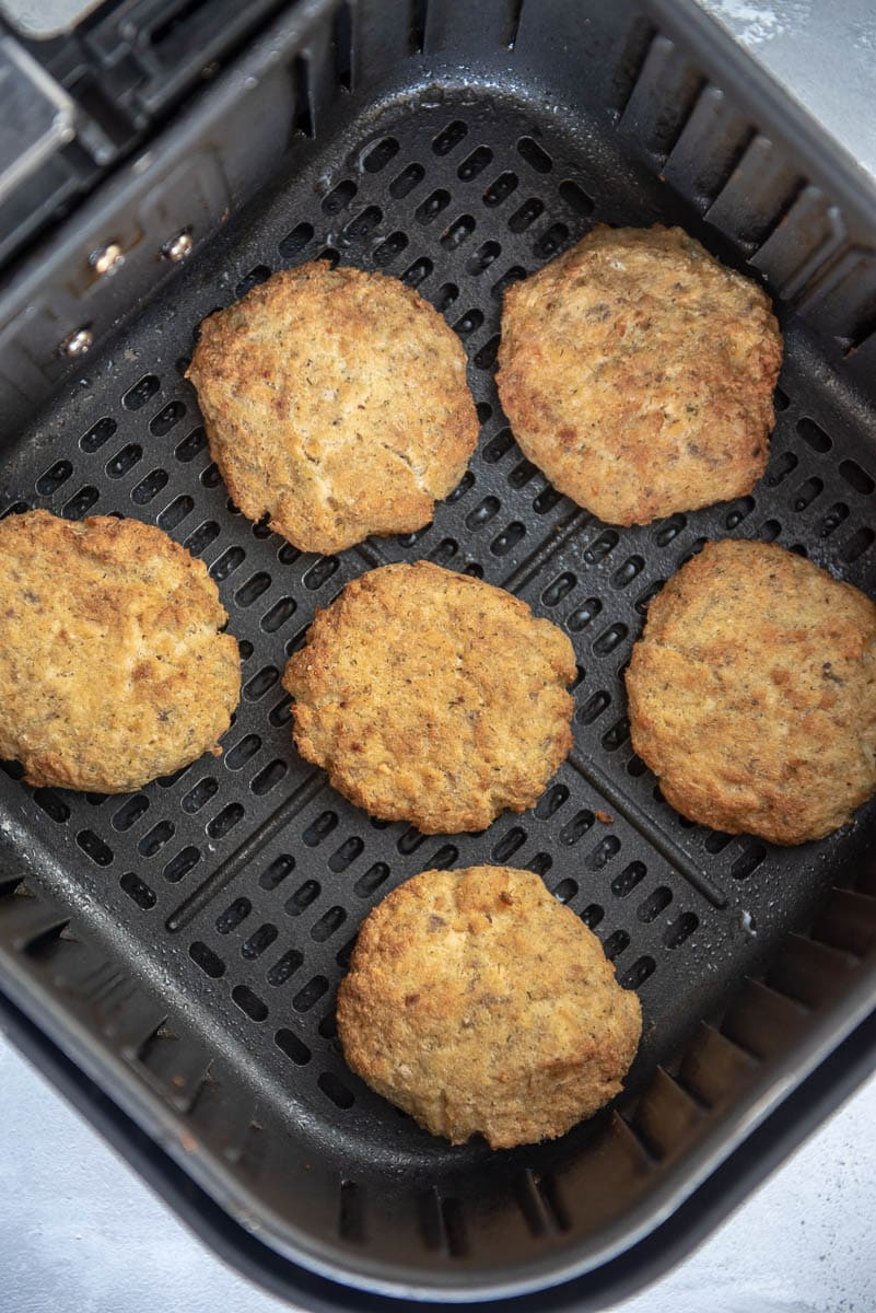 salmon patties in air fryer basket