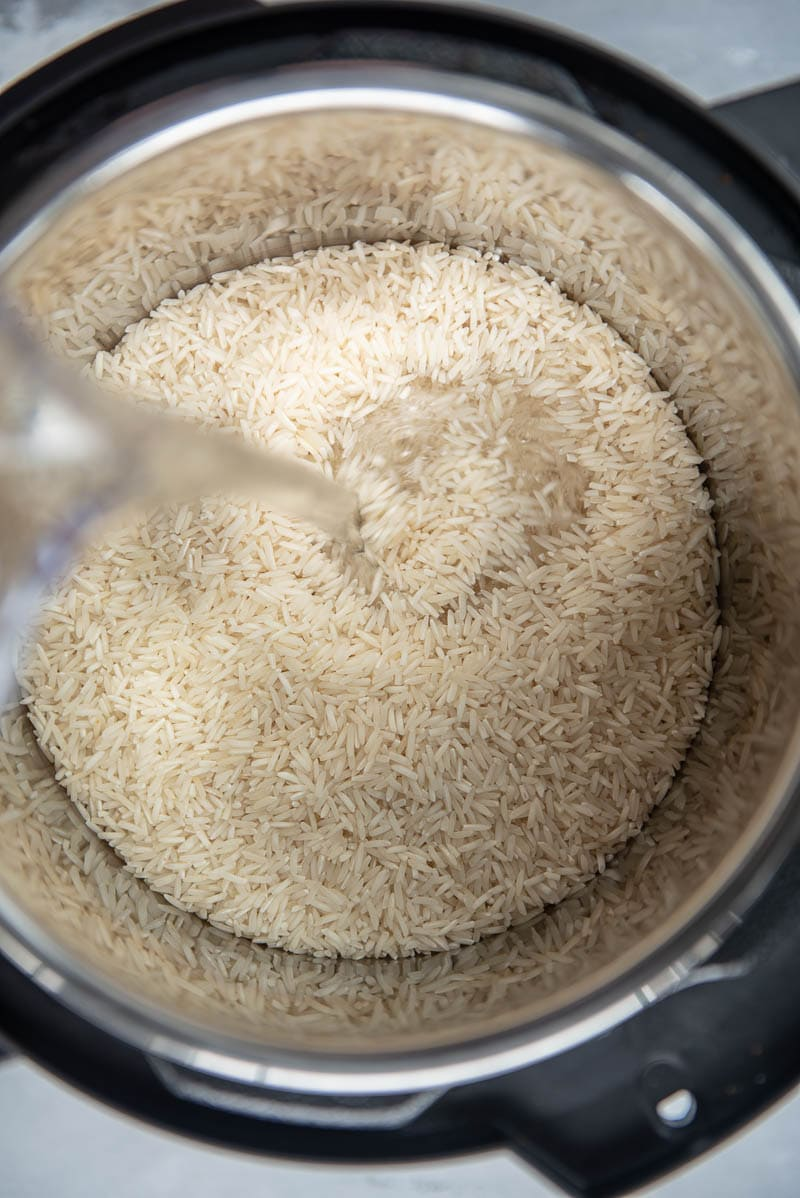 adding water to basmati rice in instant pot