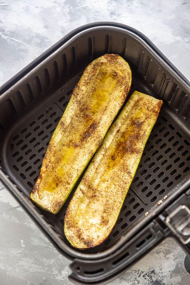 zucchini boats in an air fryer