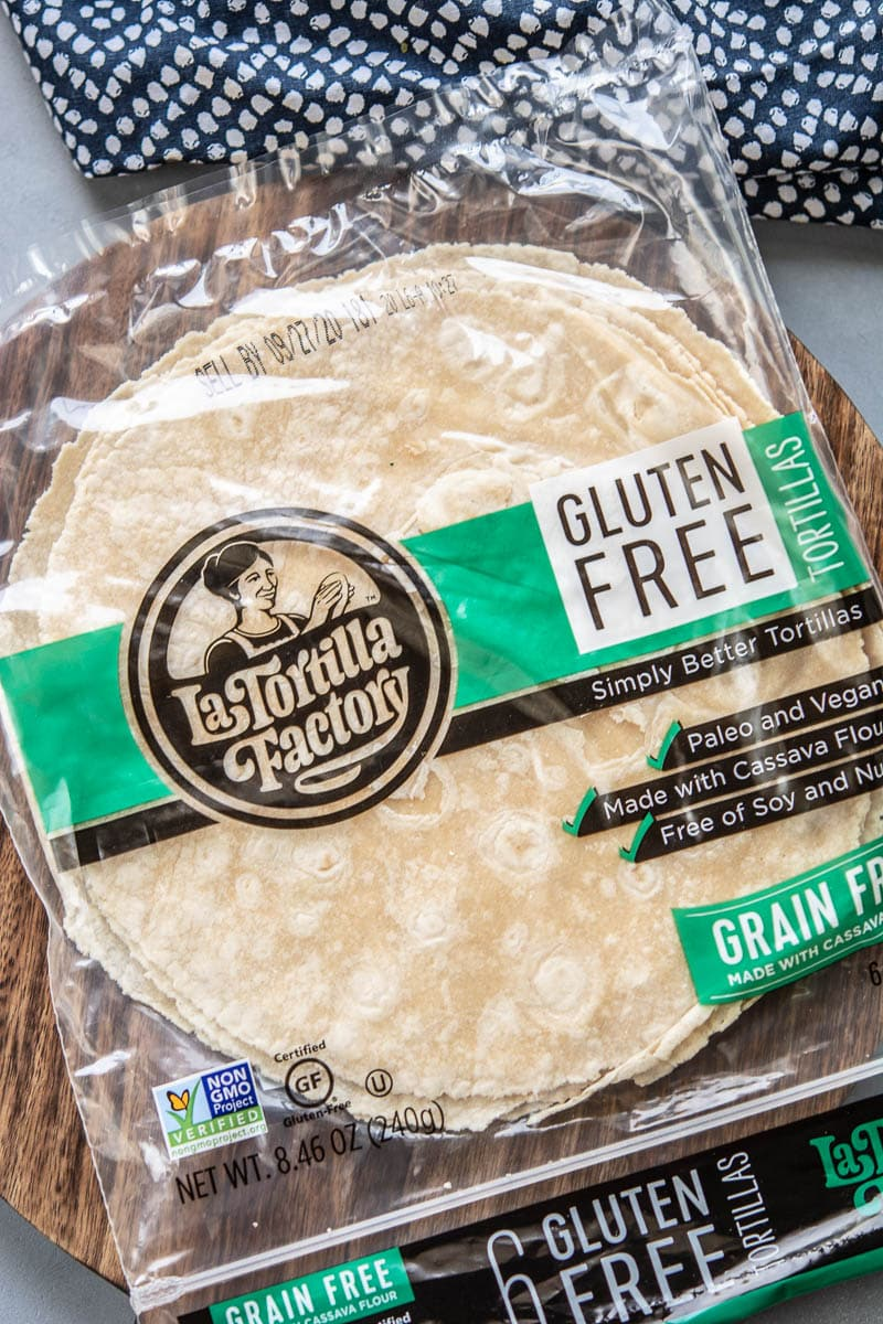 package of gluten free tortillas