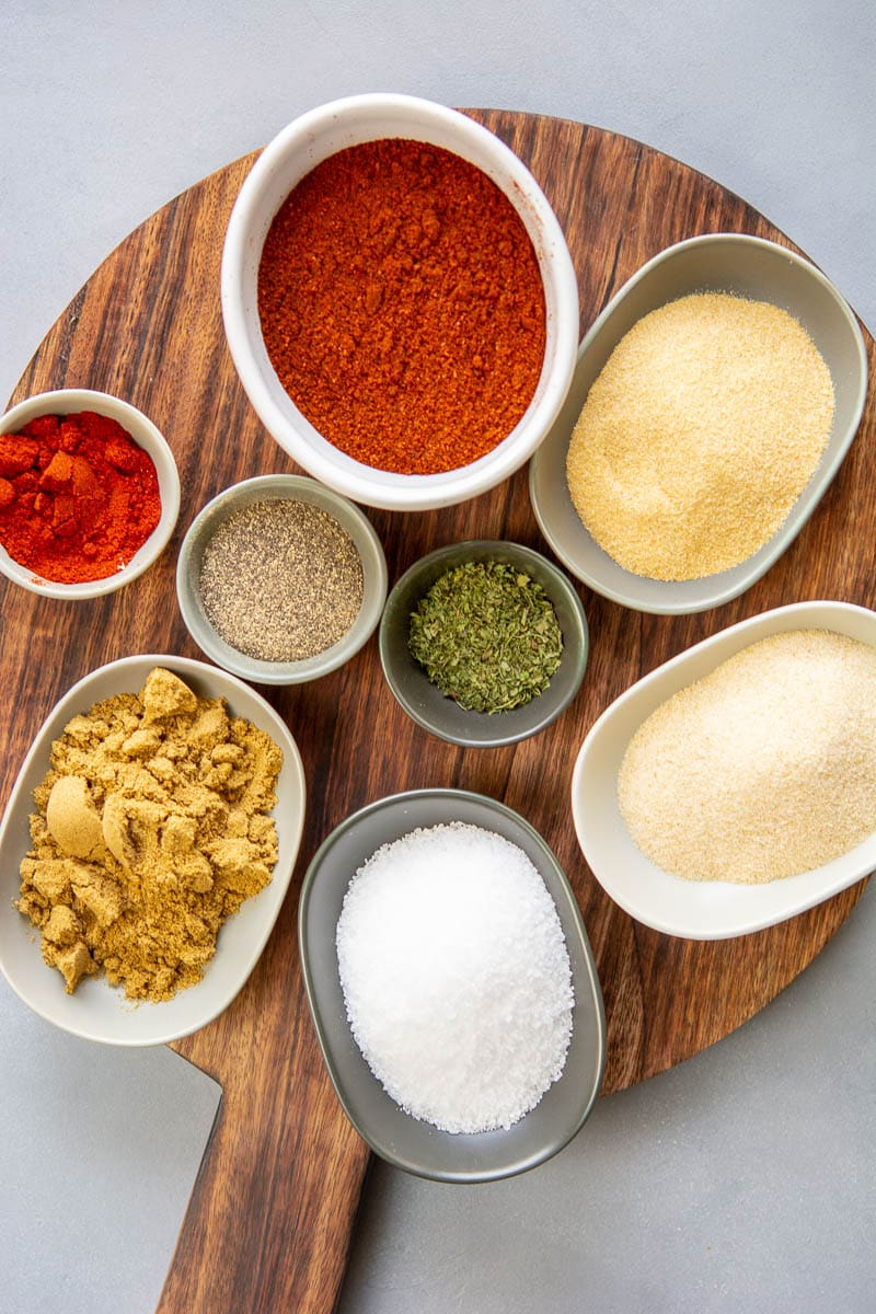 ingredients for homemade fajita seasoning