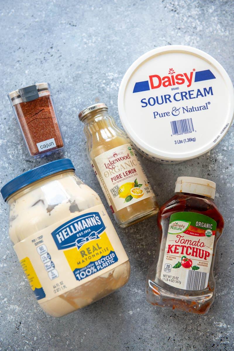 ingredients for cajun dipping sauce