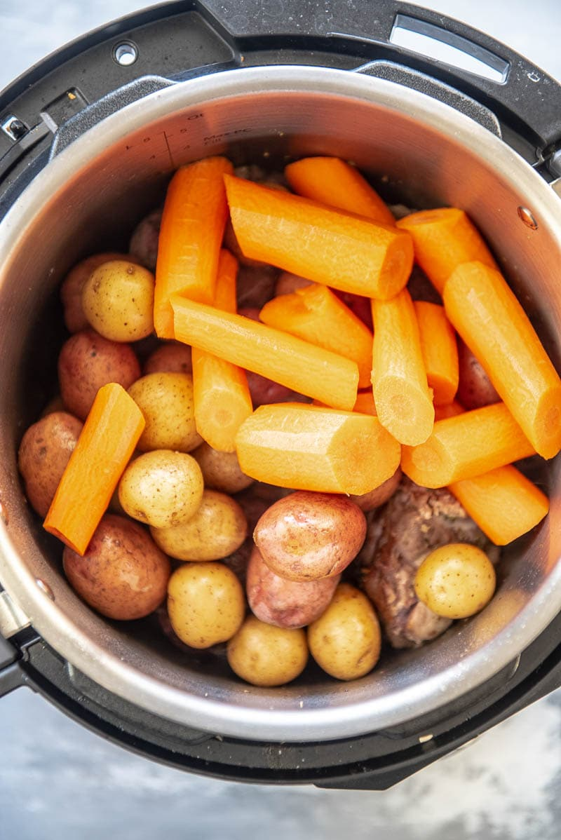 carrots and potatoes in an instant pot