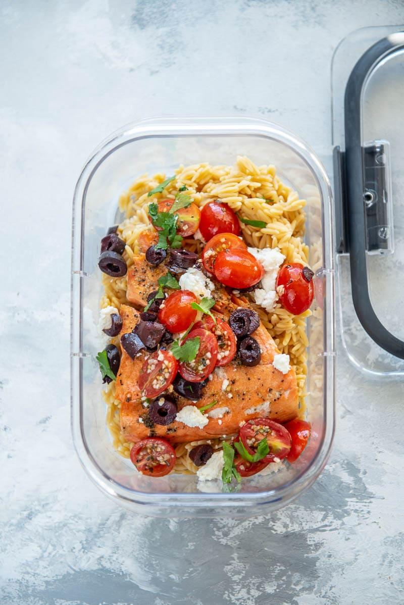 greek salmon meal prep