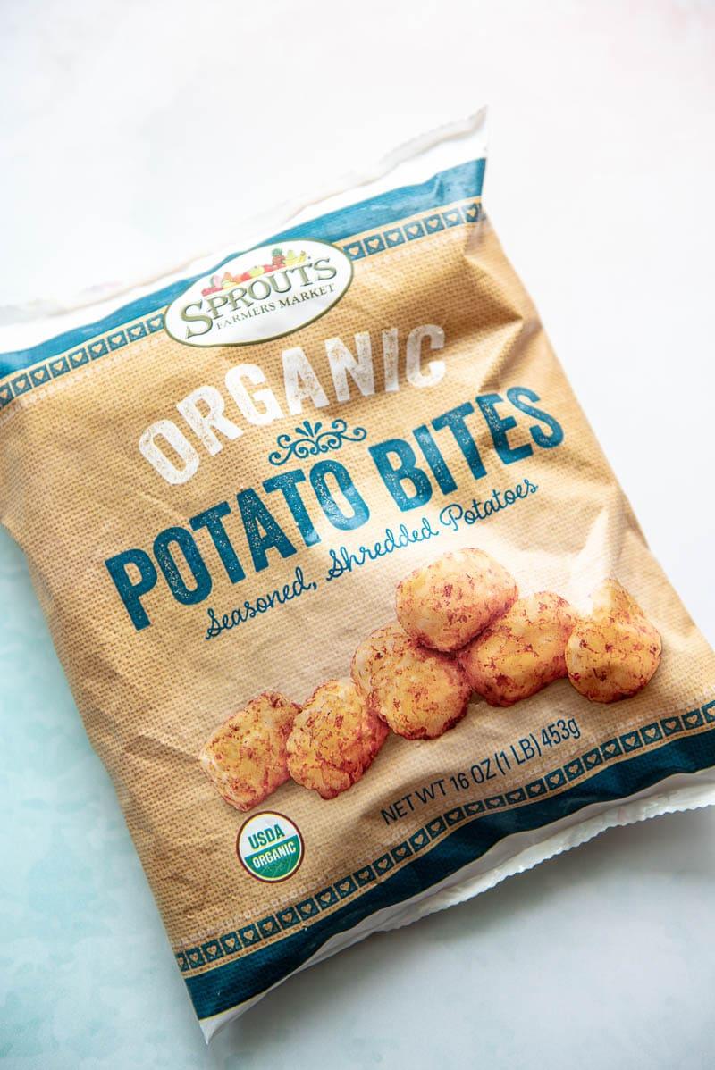 bag of organic tater tots