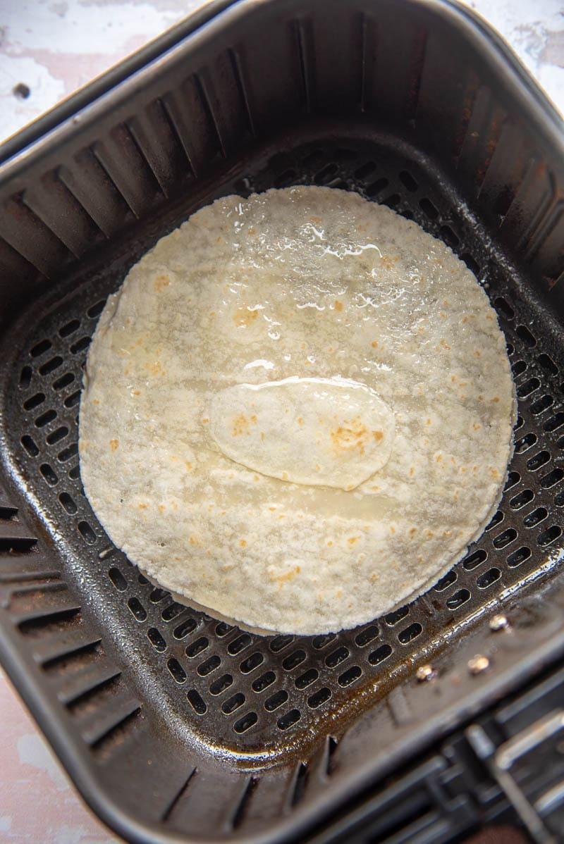 tortilla in an air fryer