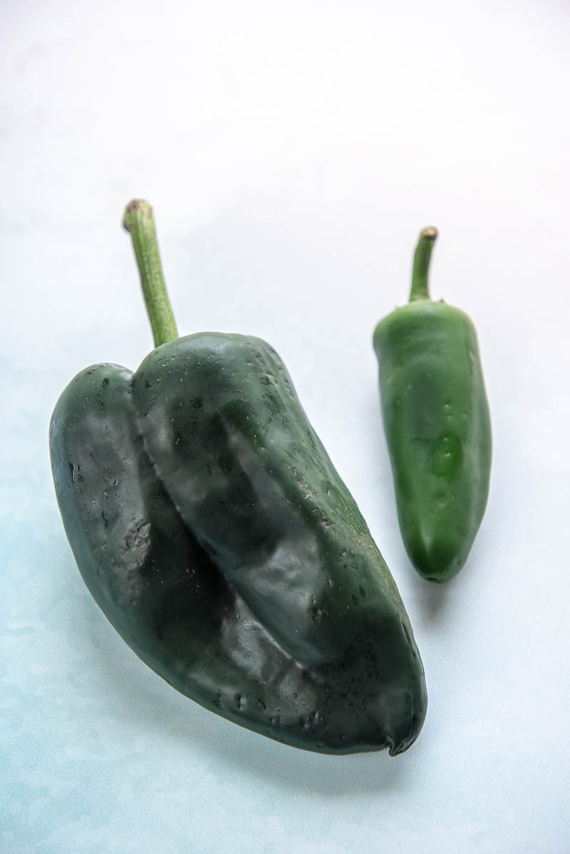 two jalapeno peppers