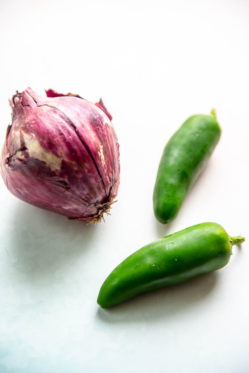 onion and two jalepenos
