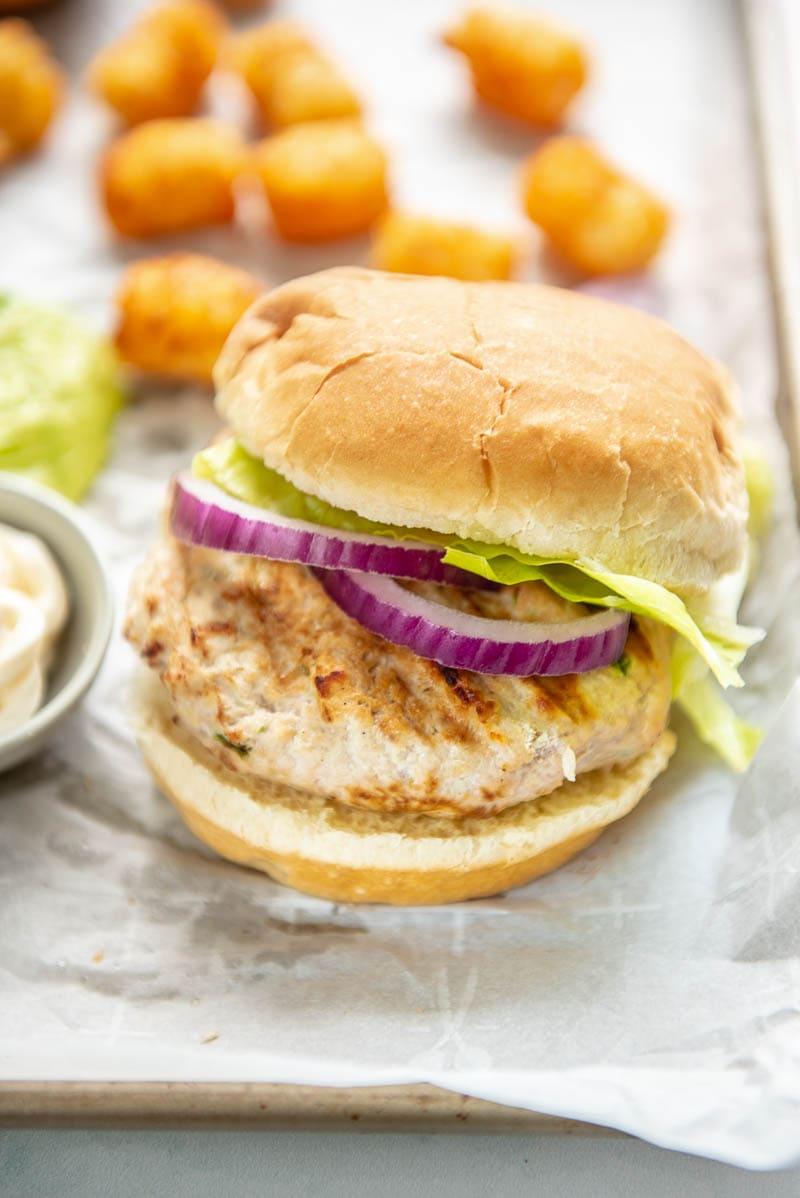 turkey burger on a bun