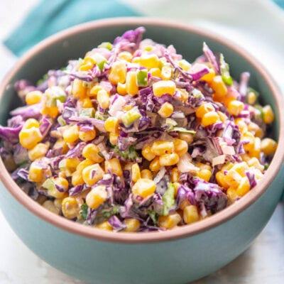 bowl of corn slaw